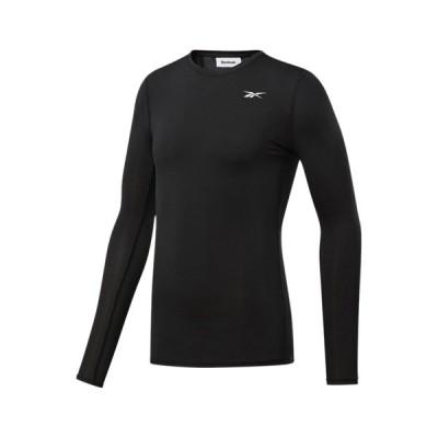 リーボック カットソー メンズ トップス WORKOUT READY COMPRESSION TEE - Long sleeved top - black