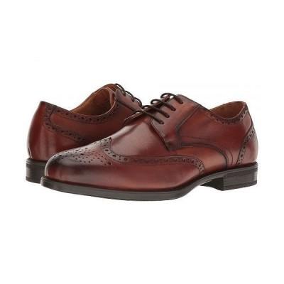 Florsheim フローシャイム メンズ 男性用 シューズ 靴 オックスフォード 紳士靴 通勤靴 Midtown Wingtip Oxford - Cognac Smooth