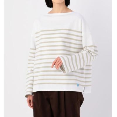 【ビショップ/Bshop】 【ORCIVAL】ラッセルフレンチセーラードロップショルダーTシャツ BEIGE WOMEN