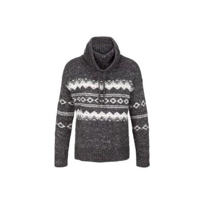 トリバル レディース ニット・セーター アウター Long Sleeve Jacquard Cowl Neck Sweater