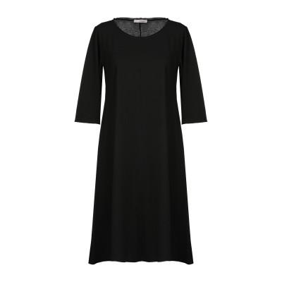 ALMERIA ミニワンピース&ドレス ブラック S 100% コットン ミニワンピース&ドレス