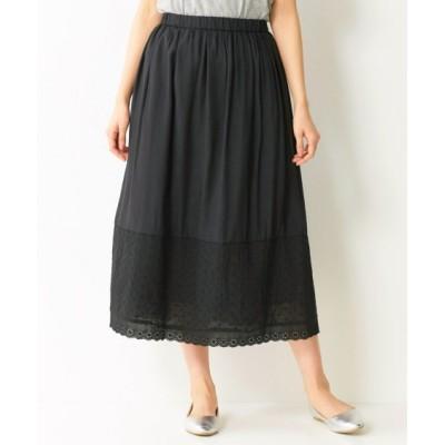 【大きいサイズ】 ロング丈レース使いスカート スカート, plus size skirts