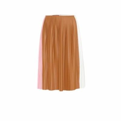 プラン C Plan C レディース ひざ丈スカート スカート Pleated midi skirt Peony Pink
