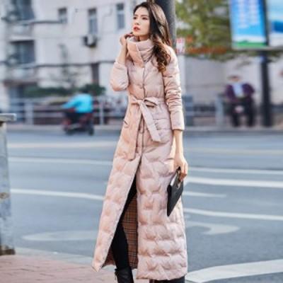 高品質 ベルトコート女性 ジャケット 暖かい スリム ダックダウン 2020  ダウン ピンク 女性 レ 新冬 ホワイト ダウン グループ上 コート