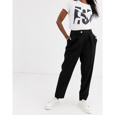 リバーアイランド レディース カジュアルパンツ ボトムス River Island peg pants in black