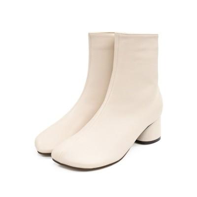 NOFALL sango / 変形スクエアトゥ円柱ヒールショートブーツ WOMEN シューズ > ブーツ