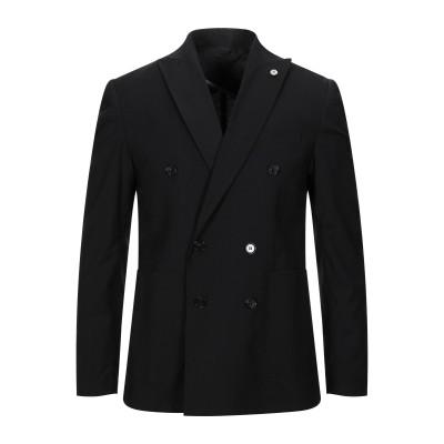 ANTONY SCARANO テーラードジャケット ブラック 48 ポリエステル 70% / レーヨン 24% / ポリウレタン 6% テーラードジ