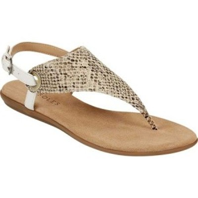 エアロソールズ Aerosoles レディース サンダル・ミュール トングサンダル シューズ・靴 In Conchlusion Slingback Thong Sandal Tan Sna
