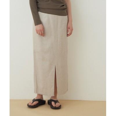 ADAM ET ROPE' / 【アウトレット店舗・WEB限定】リネンヘリンボーンフリンジスカート WOMEN スカート > スカート