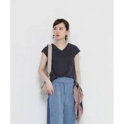 SENSE OF PLACE(センスオブプレイス)ポンチVネックTシャツ(ノースリーブ)【お取り寄せ商品】