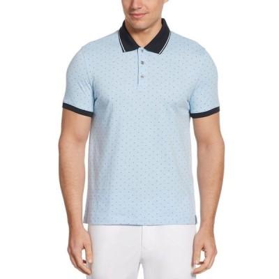 ペリーエリス メンズ ポロシャツ トップス Men's Pima Cotton Arrow Print Short Sleeve Polo Shirt
