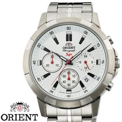 ORIENT オリエント FKV00004W0 クロノグラフ メンズ 腕時計 ホワイト