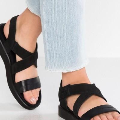 エコー レディース 靴 シューズ FLOWT - Walking sandals - black