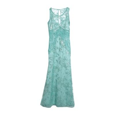 SONIA FORTUNA ロングワンピース&ドレス グリーン 44 ポリエステル 75% / ナイロン 25% ロングワンピース&ドレス