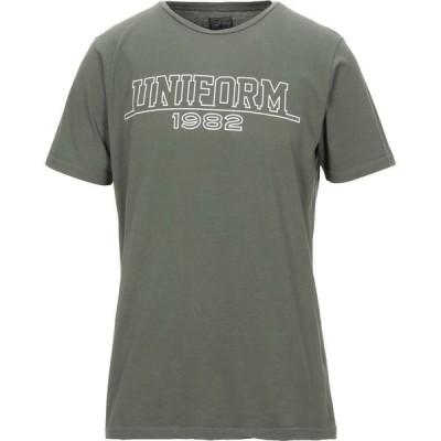 ユニフォーム UNIFORM メンズ Tシャツ トップス t-shirt Military green