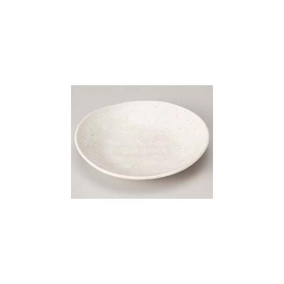 和食器 カ218-327 白粉引そぎ楕円4.0皿