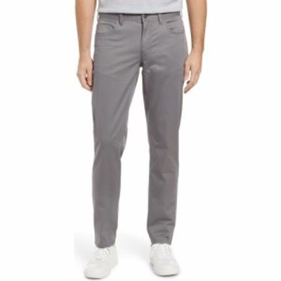 ノードストローム NORDSTROM メンズ スキニー・スリム ボトムス・パンツ Sueded Slim Fit Stretch 5-Pocket Pants Grey Dark Charcoal He