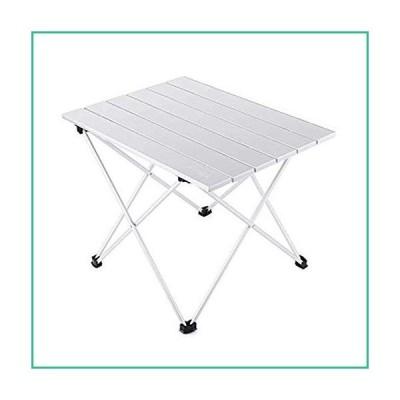 送料無料!Foldable Camping Table Portable Metal Camping Dining Table Lightweight Small Aluminum Table with Carrying Bag for Picnic Picn