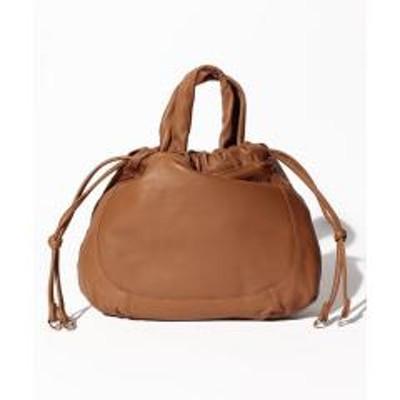 ancheri(アンシェリ)巾着型レザーミニ手提げバッグ