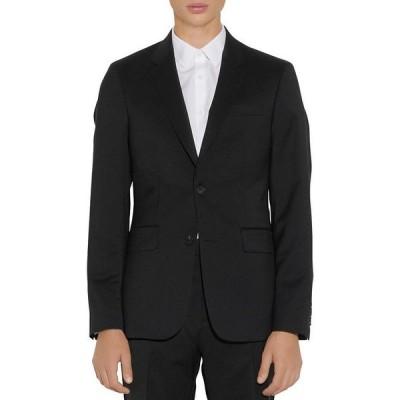 サンドロ メンズ ジャケット・ブルゾン アウター Formal Wool Black Suit Jacket
