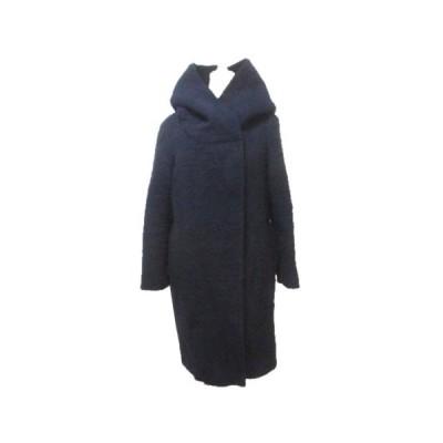 【中古】ルーニィ LOUNIE コート フーディー ウール 紺 ネイビー 36 S X レディース 【ベクトル 古着】