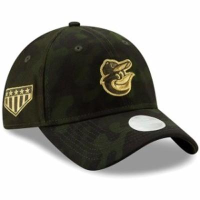 New Era ニュー エラ スポーツ用品  Baltimore Orioles New Era Womens 2019 MLB Armed Forces Day 9TWENTY Adjustable Hat - Camo