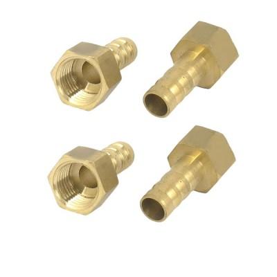 uxcell ホース口カプラ 真鍮 コネクタ 1/4BSPメネジ 8mmチューブ径 4個入り