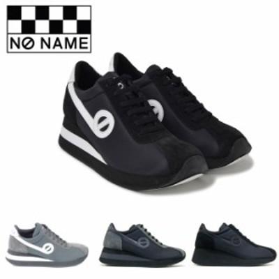 ノーネーム スピード 定番 厚底 スニーカー レディース ナイロン BLACK GREY ブラック グレー NO NAME SPEED JOG NYLON SPEED-00101