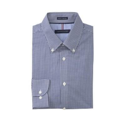トミー ヒルフィガー メンズ シャツ トップス Check Slim Fit Dress Shirt NAVY