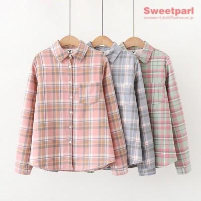 裏ボア シャツ チェックシャツ トップス カジュアル ネルシャツ 裏ボアシャツ あたたか ゆったり 春冬 レディース