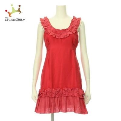 ノーブランド ドレス サイズ2 M レディース 新品未使用 YOANA BARASCHI/ヨアナバラシー レッド系   スペシャル特価 20200717