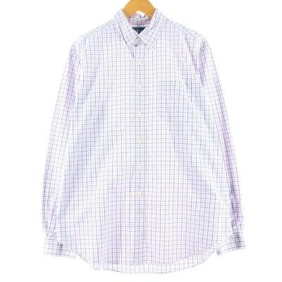 ラルフローレン Ralph Lauren CLASSIC FIT クラシックフィット 長袖 ボタンダウンチェックシャツ メンズXL /eaa132662