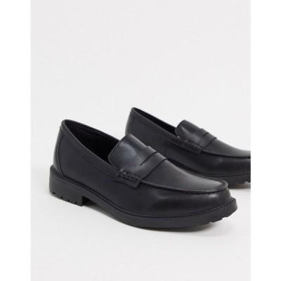 ルールロンドン Rule London メンズ ローファー シューズ・靴 tyler chunky loafer shoes in black ブラック