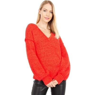 サンクチュアリ Sanctuary レディース ニット・セーター Vネック トップス V-Neck Cozy Sweater Punk Red