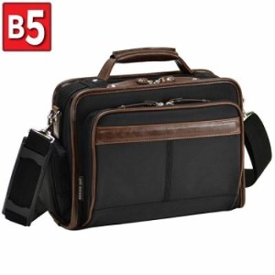 ショルダーバッグ ビジネスバッグ メンズ B5 軽量 新社会人 シンプル フォーマル 出張 通勤 休日 黒 KBN33683 GERMANE GEAR