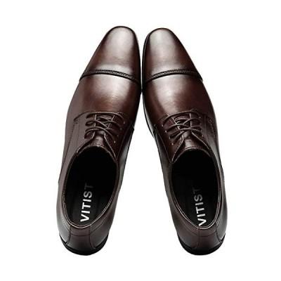 [VITIST] 革靴 ビジネスシューズ メンズ 紳士靴 高級靴 本革 就活靴 シークレットシューズ レースアップシューズ ビジネス ストレートチップ
