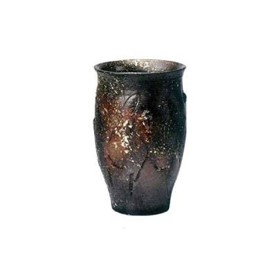 ヤマ庄陶器 傘立て ブラックなど 29×47cm 信楽焼 黒釉傘立
