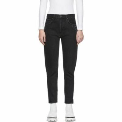 マウジー Moussy Vintage レディース ジーンズ・デニム ボトムス・パンツ black mv andrews jeans Black