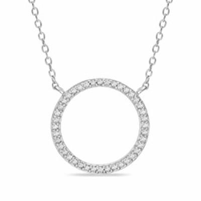 ネックレス Devin Rose 1/4 カラット ダイヤモンド オープンサークルネックレス レディース メッキスターリングシルバー (各種カラー) ホ