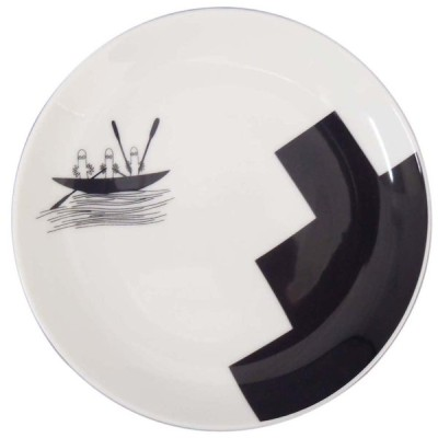 MOOMIN (ムーミン) 「 ボブファンデーション 」 14cm プレート 皿 ニョロニョロ柄 MM704-255