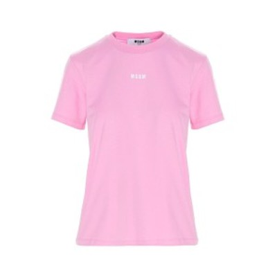 MSGM/エムエスジーエム Pink Logo print t-shirt レディース 春夏2021 3041MDM10021729812 ju