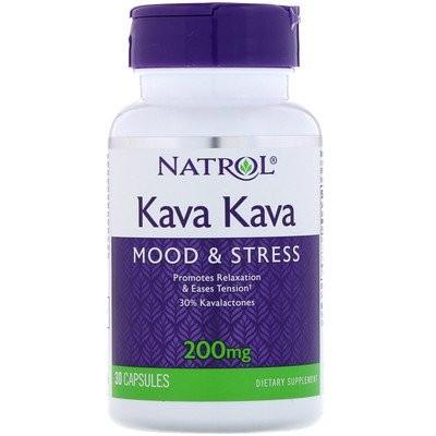 Kava Kava(カヴァ・カヴァ)、200mg、カプセル30粒