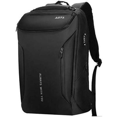 AISFA リュック メンズ リュックサック バックパック 防水レバー付き 17インチ PC ビジネスリュック ラップトップバック 大容量 bag U