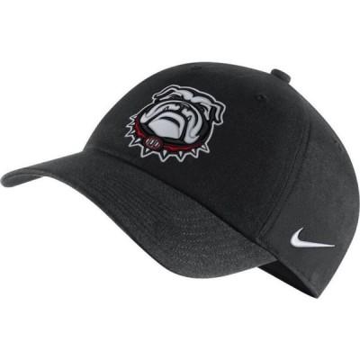ナイキ Nike メンズ キャップ 帽子 Georgia Bulldogs 100th Anniversary' H86 Adjustable Black Hat