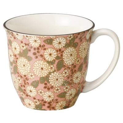 プレゼント マグカップ / 菊の小路マグ(ピンク) 寸法: 9.2 x 8.2cm・320cc 155g