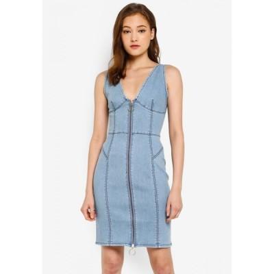 ファインダーズ キーパーズ Finders Keepers レディース パーティードレス デニム ワンピース・ドレス Claudia Denim Dress Blue
