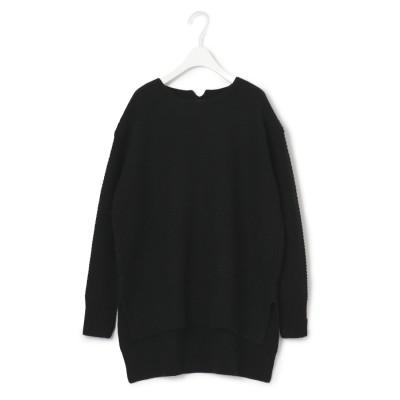 ICB 【マガジン掲載】Soft Cashmere Mix ガーター編みニット(番号CL25) (ブラック)
