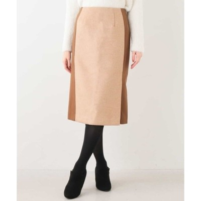 スカート 異素材ナロースカート
