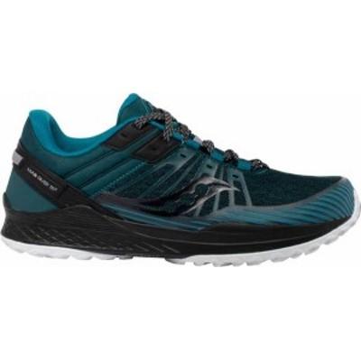 サッカニー メンズ スニーカー シューズ Saucony Men's Mad River TR 2 Trail Running Shoes Black/Teal