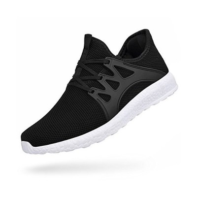 Feetmat Mens Athletic Shoes Non Slip Workout Shoes Wide Slip On Mesh Gym Sneakers Kitchen Shoes Black White 10.5
